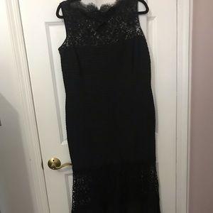Black Tadashi Shoji Gown with Lace